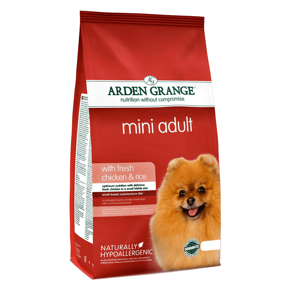 Arden Grange Mini Adult Dog Chicken & Rice 2 кг - корм Арден Гранж для мелких пород собак