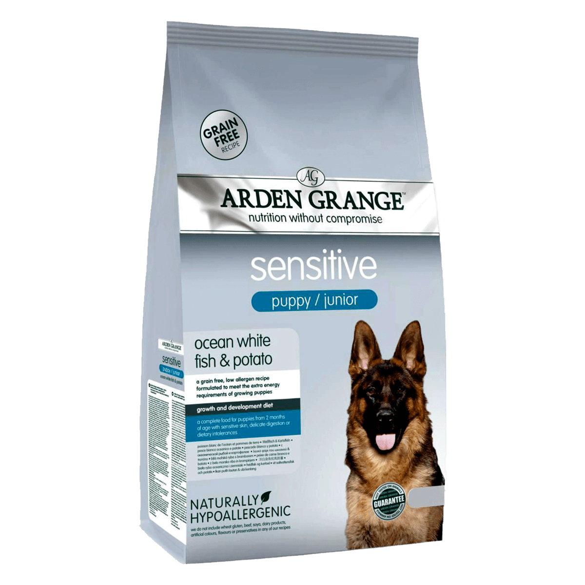 Arden Grange Sensitive Puppy/Junior Ocean White Fish & Potato 2 кг - корм Арден Гранж для щенков