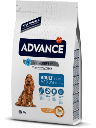 Корм для собак Advance Dog Medium Adult 3 кг