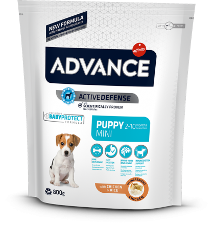 Корм для собак Advance Mini Puppy 800 г