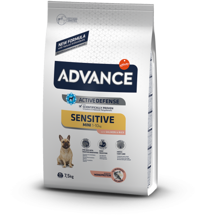 Корм для собак Advance Mini Sensitive 7,5 кг