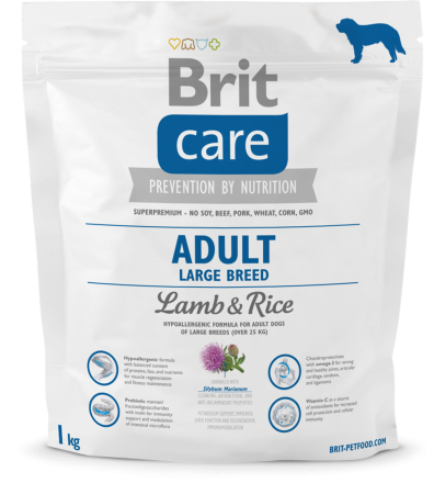 Корм для собак Brit Care Adult Large Breed Lamb and Rice, 1 кг