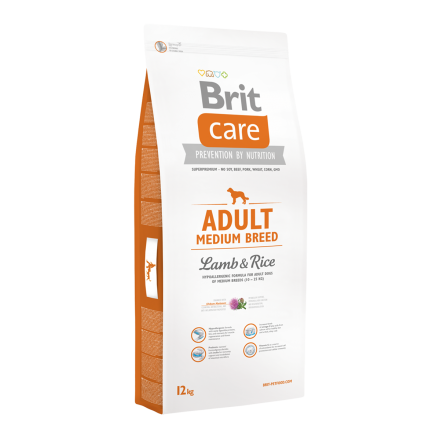 Корм для собак Brit Care Adult Medium Breed Lamb and Rice, 12 кг
