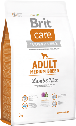 Корм для собак Brit Care Adult Medium Breed Lamb and Rice, 3 кг
