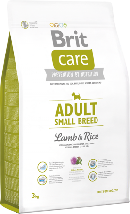 Корм для собак Brit Care Adult Small Breed Lamb and Rice, 3 кг
