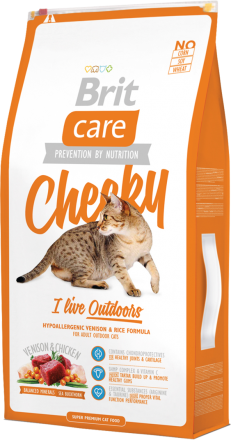 Корм для кошек Brit Care Cat Cheeky I am Living Outdoor, 7 кг