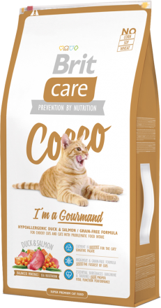 Корм для кошек Brit Care Cat Cocco I am Gourmand, 7 кг