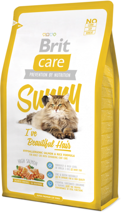 Корм для кошек Brit Care Cat Sunny I have Beautiful Hair, 2 кг