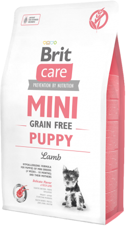Корм для собак Brit Care Mini Grain Free Puppy Lamb, 2 кг
