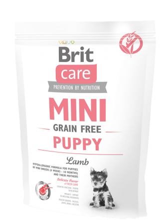 Корм для собак Brit Care Mini Grain Free Puppy Lamb, 400 г