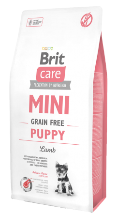 Корм для собак Brit Care Mini Grain Free Puppy Lamb, 7 кг
