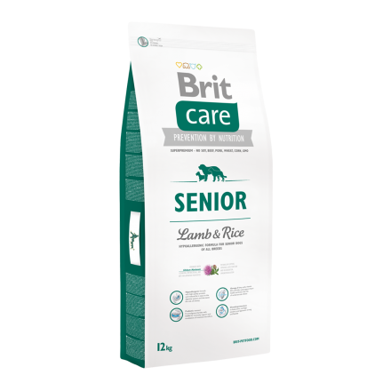 Корм для собак Brit Care Senior Lamb & Rice, 12 кг