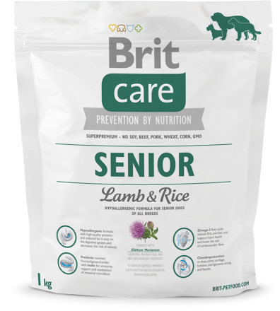Корм для собак Brit Care Senior Lamb & Rice, 1 кг