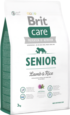 Корм для собак Brit Care Senior Lamb & Rice, 3 кг