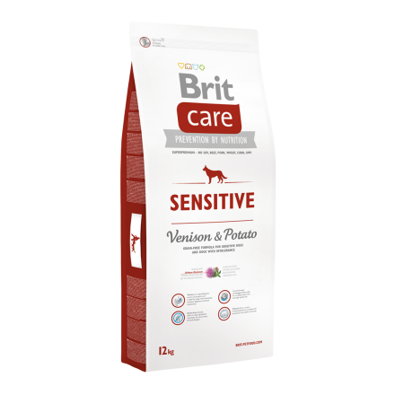 Корм для собак Brit Care Sensitive Venison & Potato, 12 кг