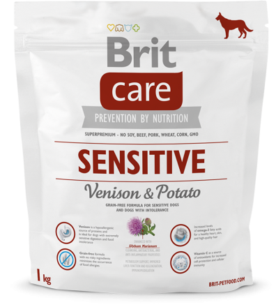 Корм для собак Brit Care Sensitive Venison & Potato, 1 кг