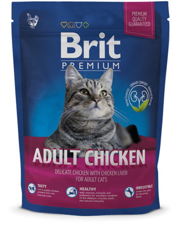 Корм для котов Brit Premium Cat Adult Chicken 300 г