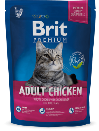 Корм для котов Brit Premium Cat Adult Chicken 800 г