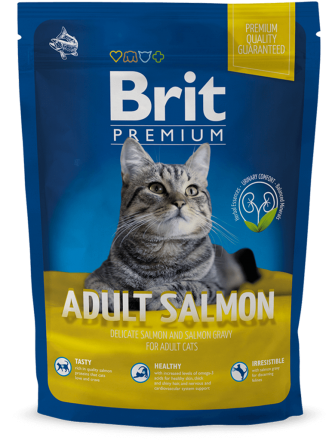 Корм для котов Brit Premium Cat Adult Salmon 800 г