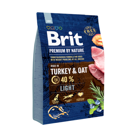 Корм для собак Brit Premium Light, 3 кг