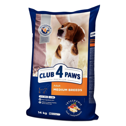 Club 4 Paws Premium Medium Breeds 14 кг - корм Клуб 4 лапы для собак средних пород