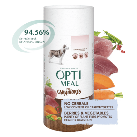 Корм для собак Optimeal Dog Adult Grain Free Duck & Vegetables, 650 г