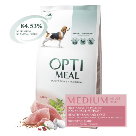 Корм для собак Optimeal Dog Adult Medium, 4 кг