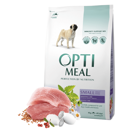 Корм для собак Optimeal Dog Adult Small, 4 кг