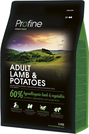 Корм для собак Profine Dog Adult Lamb & Potatoes 3 кг