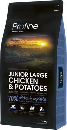 Корм для собак Profine Junior Large Breed Chicken & Potatoes 15 кг