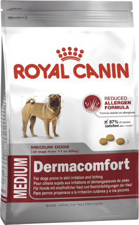 Корм для собак Royal Canin Medium Dermacomfort 3 кг