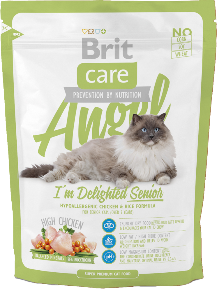Корм для кошек Brit Care Cat Angel I am Delighted Senior, 400 г
