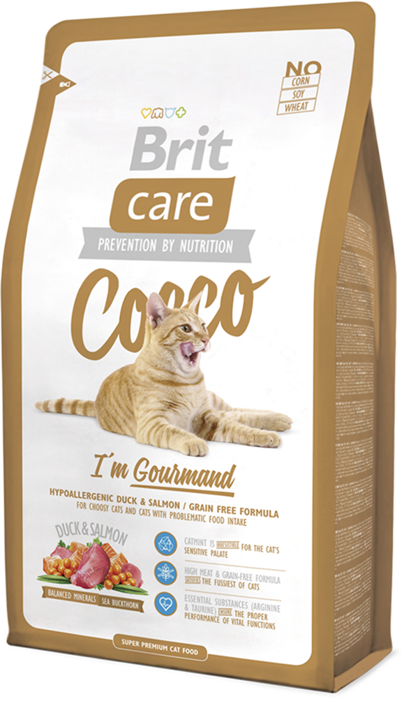 Корм для кошек Brit Care Cat Cocco I am Gourmand, 2 кг