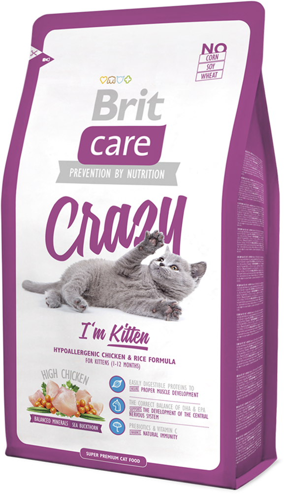 Корм для кошек Brit Care Cat Crazy I am Kitten, 2 кг