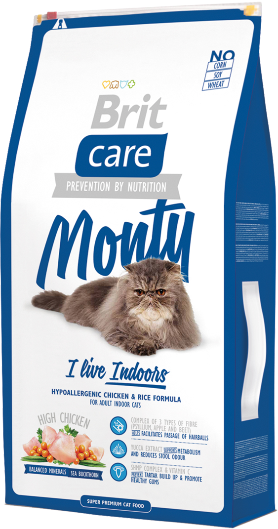 Корм для кошек Brit Care Cat Monty I am Living Indoor, 7 кг