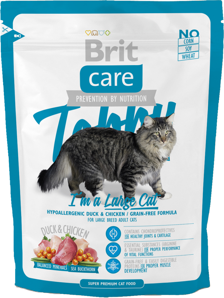 Корм для кошек Brit Care Cat Tobby I'm a Large Cat, 400 г