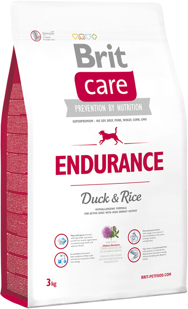 Корм для собак Brit Care Endurance Duck & Rice, 3 кг