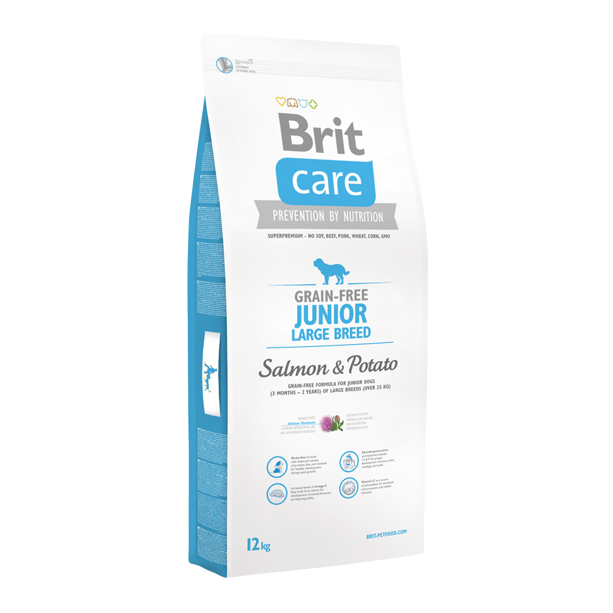 Корм для собак Brit Care Grain-free Junior Large Breed Salmon & Potato, 12 кг