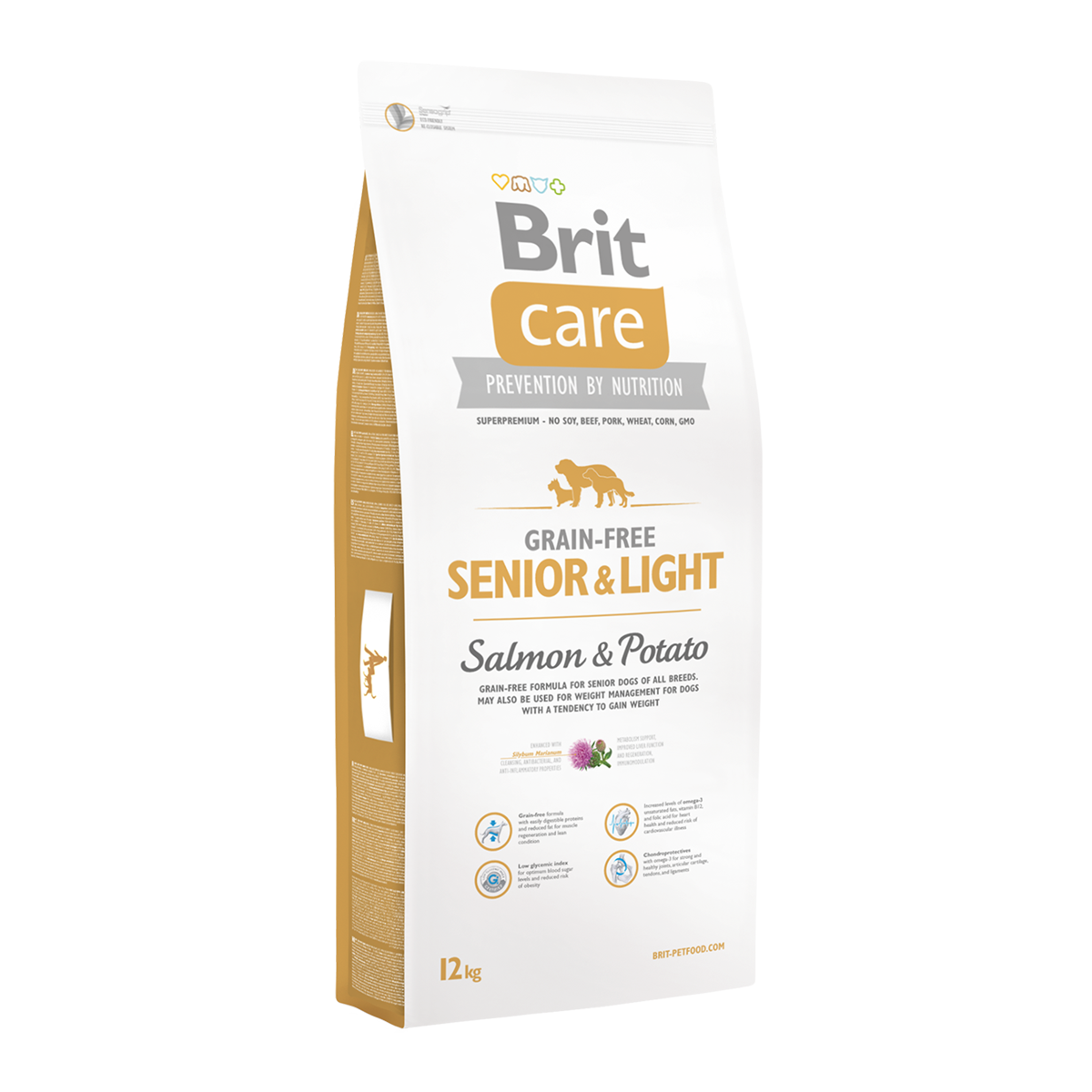 Корм для собак Brit Care Grain-free Senior & Light  Salmon & Potato, 12 кг