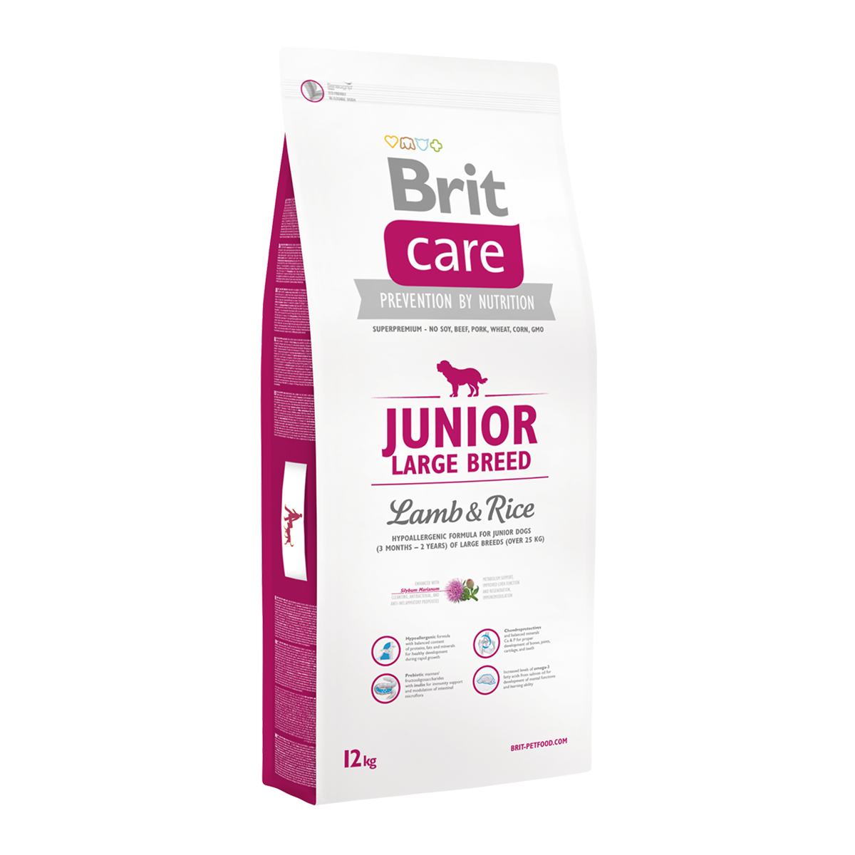 Корм для собак Brit Care Junior Large Breed Lamb & Rice, 12 кг