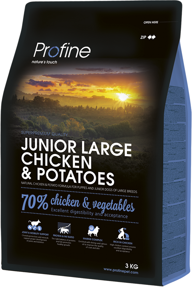 Корм для собак Profine Junior Large Breed Chicken & Potatoes 3 кг