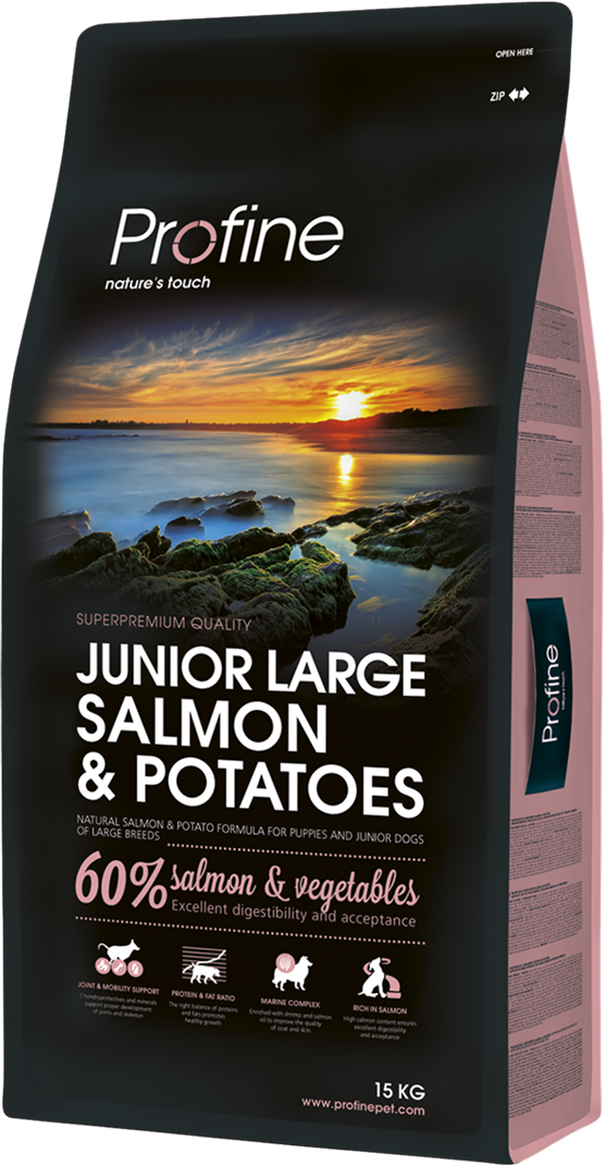 Корм для собак Profine Junior Large Breed Salmon & Potatoes 15 кг