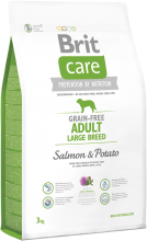 Brit Care Grain-free Adult Large Breed Salmon & Potato, 3 кг