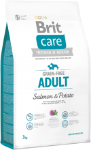 Корм для собак Brit Care Grain-free Adult Salmon & Potato, 3 кг