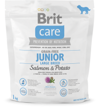 Корм для собак Brit Care Grain-free Junior Large Breed Salmon & Potato, 1 кг