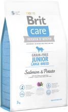 Корм для собак Brit Care Grain-free Junior Large Breed Salmon & Potato, 3 кг