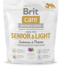 Корм для собак Brit Care Grain-free Senior & Light  Salmon & Potato, 1 кг
