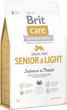 Корм для собак Brit Care Grain-free Senior & Light  Salmon & Potato, 3 кг
