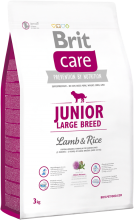 Корм для собак Brit Care Junior Large Breed Lamb & Rice, 3 кг