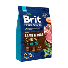 Корм для собак Brit Premium Sensitive  Lamb & Rice, 3 кг